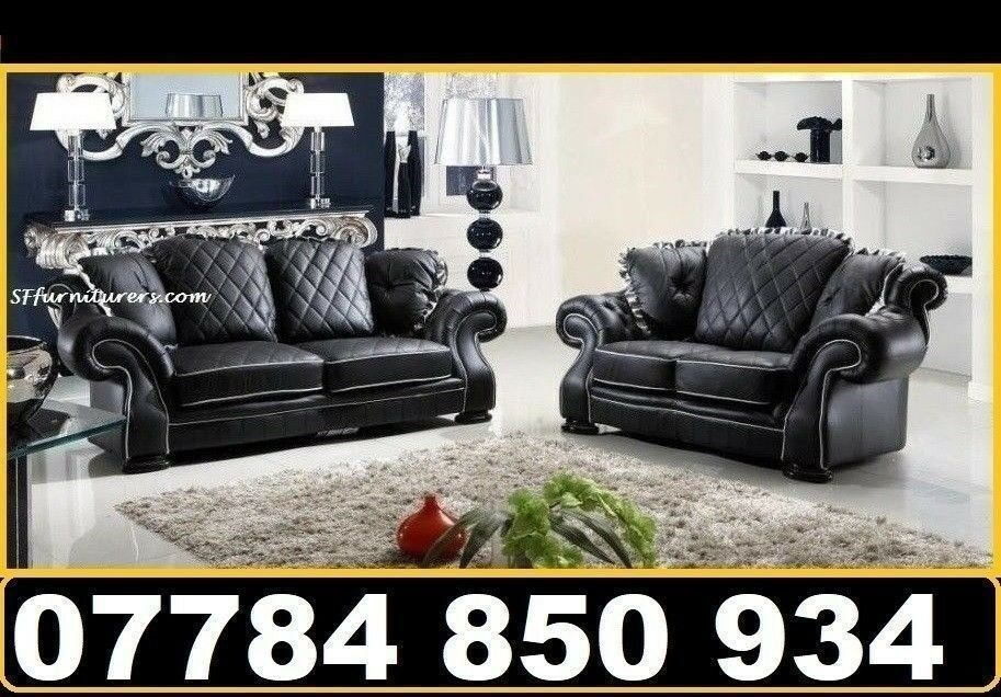3 2 Leather Sofa Next Day Delivery In Princes Park Merseyside