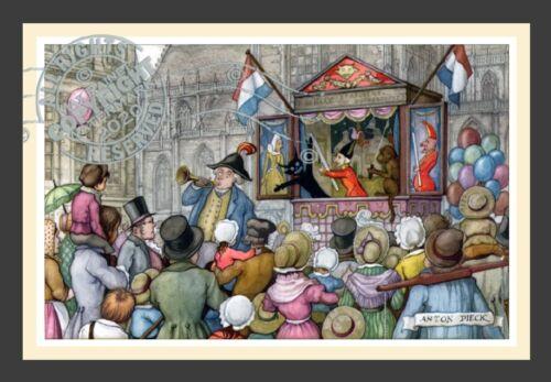 Punch + Judy Puppet Show * Dutch Baroque * English Village ANTON PIECK Art Print