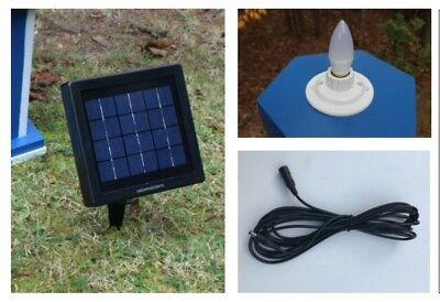 Solar Beacon Lighthouse Light Kit - LED Dusk to Dawn with Remote Solar Panel