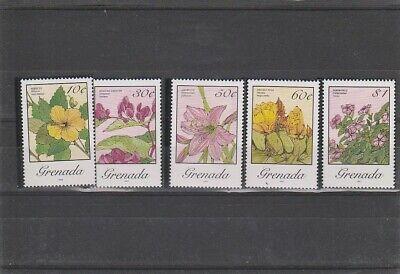 GRENADA 1987  FLOWERS SET MNH VF