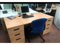 800mm x 800mm Beech Office Desk