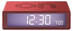 Lexon Flip LCD Alarm Clock Travel LR130MR Red - Simple Operation by Turn