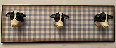Decorative Cow Towel Rack/Decoration Handmade EUC