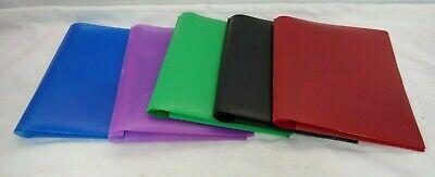 2-pocket Folder W Prongs Stay-put 5 Count Folders Multi Color T3
