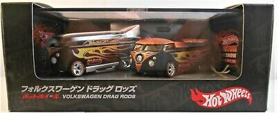 2007 JAPAN HOT WHEELS CONVENTION 2 CAR SET VW DRAG BUS & VW DRAG TRUCK