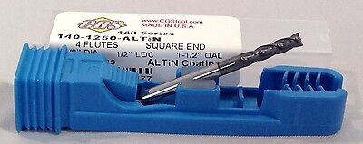 18 4 Flute New 140-1250e-a Cgs Carbide End Mill Altin Coated