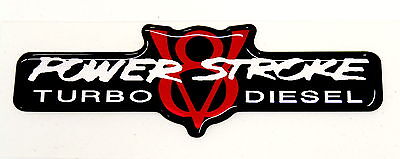 Powerstroke V8 Td Emblem Red/black (standard)