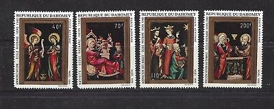 DAHOMEY REPUBLIC - C132- C135 - MNH - 1970 - PAINTINGS - CHRISTMAS 1970