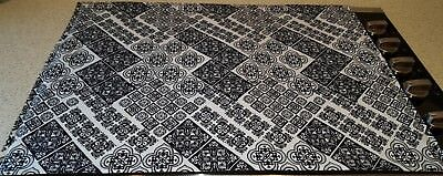 Black & White Mosaic Damask Glass Stove top / Cook top Cover & Protector