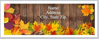 Personalized Address Labels Fall Autumn Leaves Buy 3 Get 1 Free P 582