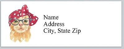 Personalized Address Labels Hippie Cat Buy 3 Get 1 Free Bx 786