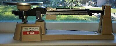 Vintage Ohaus Triple Beam Balance Lab Scale 2610g