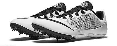 online retailer ed443 5f37a Nike ZOOM RIVAL S7 Track Running Sprint Shoe w Spikes WHITE BLACK Mens Size  12.5