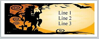 Personalized Address Labels Halloween Headless Horseman Buy3 Get1 Free Jx 167
