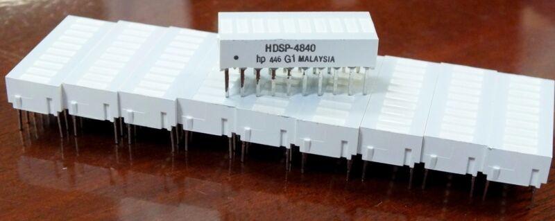 NEW LED Bar - 10-Pieces Set - HDSP-4840 20-Pin Graph hp 446 Array Dip Yellow