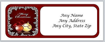 30 Personalized Address Labels Christmas Buy 3 get 1 free (ac418)