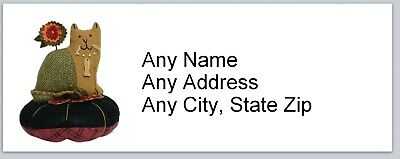 Personalized Address Labels Country Cat On Cushion Buy 3 Get 1 Free Ac 654