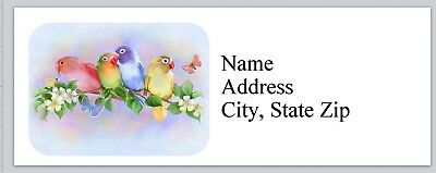 Personalized Address Labels Birds Parrots Budgies Buy 3 Get 1 Free Bx 827