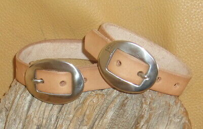 1 Set US Made Leather Fender Hobble Straps, SS Cart Buckles, Saddle Tan 13