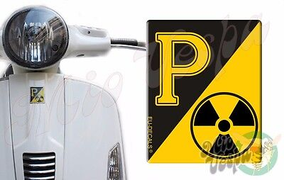 Front Badge Overlay RadioActive Collection 3D Decal sticker Vespa Gts Gt scooter