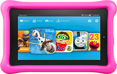 """Fire Kids Edition Tablet, 7"""" Display, 16 Gb, Pink Kid-proof Case"""