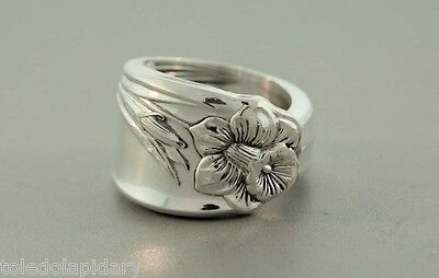 Daffodil 1950 Vintage Silver Spoon Ring