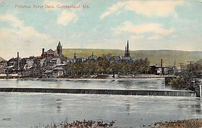 For sale Cumberland Maryland Potomac River Dam Water Front Antique Postcard K19243
