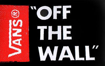 Vans Skateboard Shoes Sticker - Off The Wall skate surf skateboarding bmx black