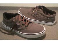 VANS Authentic Canvas Shoes UK Size 5.5 Light Grey RRP £42