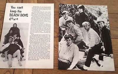 Can't keep BEACH BOYS down 4 page ARTICLE / clipping