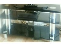 """Large Samsung glass tv table (up to 50"""")"""