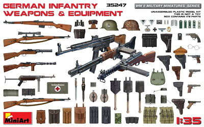 Wwii German Infantry Weapons - MiniArt Models 1/35 WWII German Infantry Weapons & Equipment