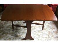 "Vintage G-Plan Teak 6-Place Drop-Leaf Gate-Leg ""Fresco"" Dining Table, 1990-92"