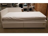 FLEKKE Day-bed w 2 drawers/2 mattresses, white 80x200 cm, IKEA MILTON KEYNES #bargaincorner