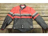 """Scott Leather Motorcycle Motorbike Jacket Retro Bobber 40"""" 102cm"""