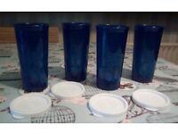 New Tupperware Tumbler set (4) with lids
