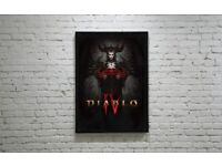 DIABLO IV LILITH POSTER A4 FREE DELIVERY