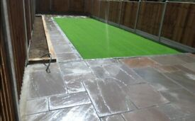 Landscaping gardening services artificial grass lawns jetwashing patio paths free quotes