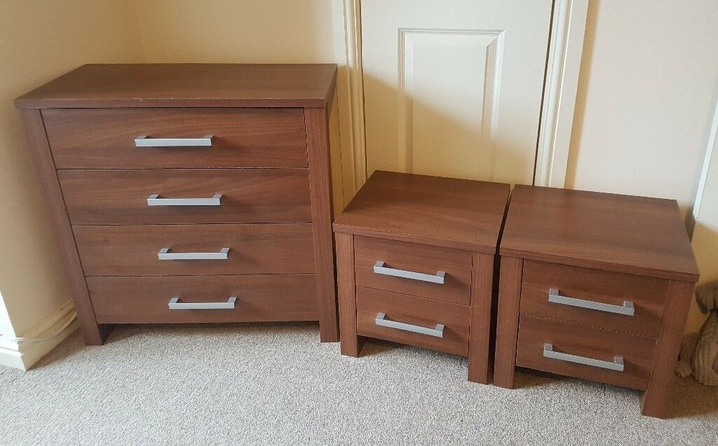 argos joyton walnut effect bedroom furniture set chest