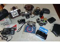 Vintage cameras and photographic equipment