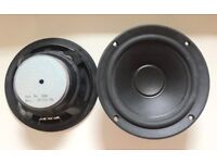 PAIR OF MIDRANGE WOOFERS FROM A SET OF JAMO SPEAKERS. GOOD WORKING CONDITION.