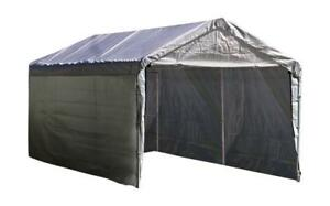 NEW ShelterLogic Super Max 12-Feet X 20-Feet White Canopy Enclosure Kit, Canopy and Frame