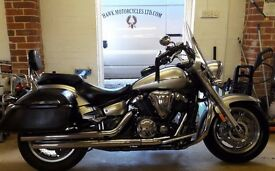 DEPOSIT RECEIVED 2008 YAMAHA XVS1300A MIDNIGHT STAR WITH PANNIERS