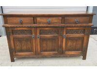 Old CharmSolid Oak Large Sideboard