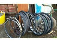 Job lot of 26inch bike wheels 8 in total