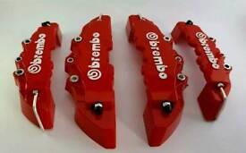 RED 4Pcs Pro Disc Brake 3D Cars Parts Caliper Covers Front Rear Car Set Hot Sell