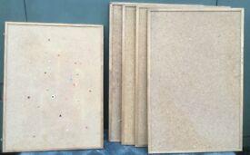 5 cork & wood notice boards