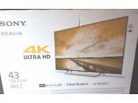 Sony bravia 43inch 4k tv BNIB