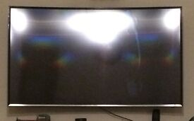 Curved Samsung Tv crack screen