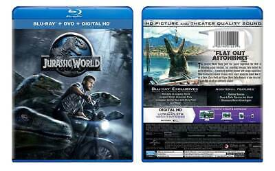 Jurassic World (Blu-ray/DVD, 2015, 2-Disc Set, Includes Digital Copy) BRAND NEW